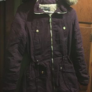 Parkas (available in burgundy)